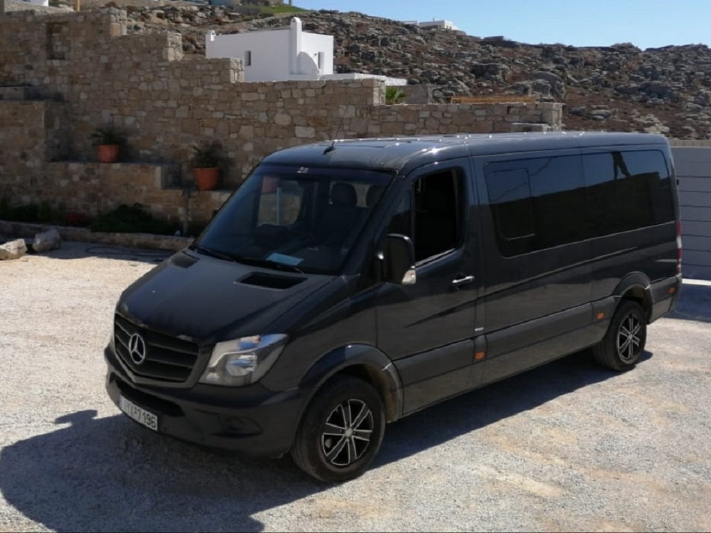 Mykonos rent mini bus